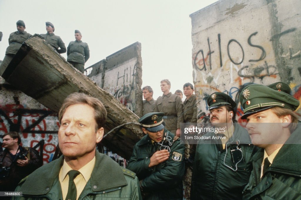 The fall of the Berlin Wall, 10th November 1989.