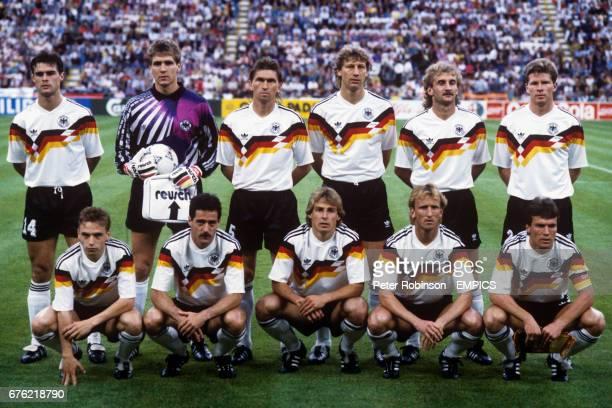 West Germany Team Group Thomas Berthold Bodo Illgner Klaus Augenthaler Guido Buchwald Rudi Voller Stefan Reuter Thomas Hassler Uwe Bein Jurgen...