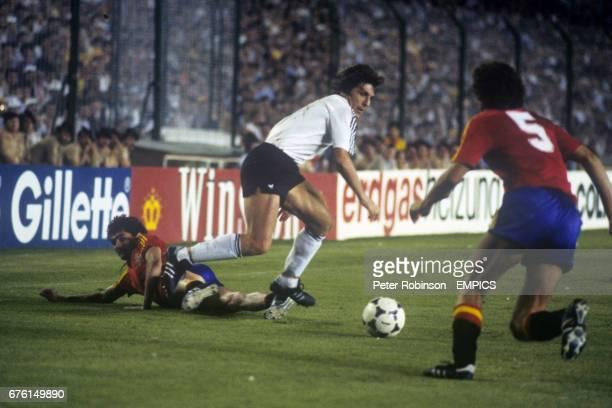 West Germany's Klaus Fischer in action