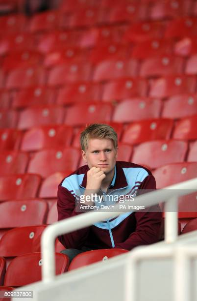 West Ham fans appear dejected in the stands following their defeat to Sunderland and relegation from the Premier League during the Barclays Premier...