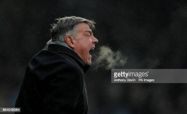 West Ham manager Sam Allardyce during the Barclays Premier League match at Upton Park London