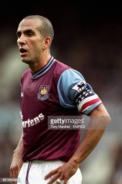 West Ham United captain Paolo Di Canio sporting a stars and stripes armband