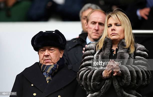 West Ham United coowner David Sullivan looks on during the Barclays Premier League match between Tottenham Hotspur and West Ham United at White Hart...