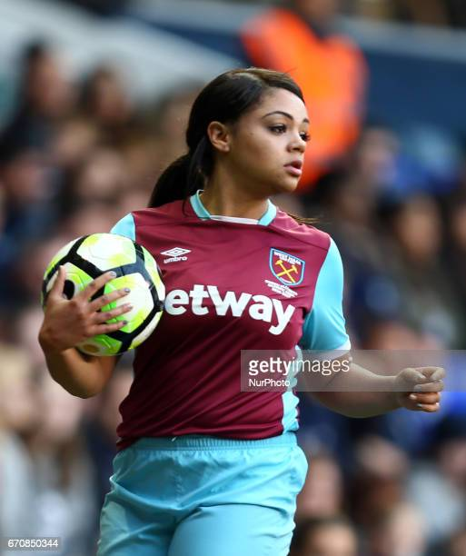 West Ham United Ladies Chantelle Mackie during The FA Women's Premier League Southern Division match between Tottenham Hotspur Ladies and West Ham...