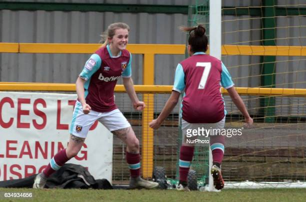 West Ham United Ladies Molly Peters celebrates her goal during FA Women's Premier League Southern Division West Ham United Ladies against Portsmouth...
