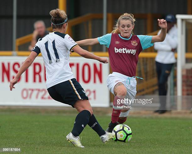 West Ham United Ladies Molly Peters during FA Women's Premier League Cup Preliminary Round match between West Ham United Ladies and Tottenham Hotspur...