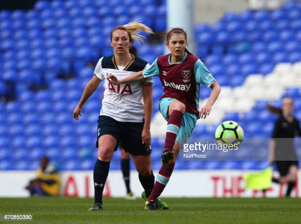 West Ham United Ladies Molly Peters during The FA Women's Premier League Southern Division match between Tottenham Hotspur Ladies and West Ham United...