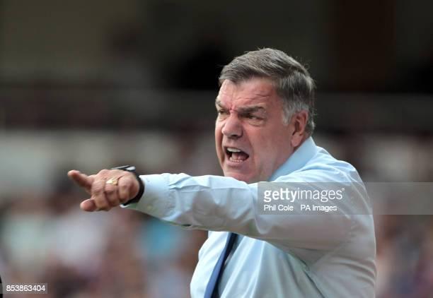 West Ham United manager Sam Allardyce during the Barclays Premier League match at Upton Park London