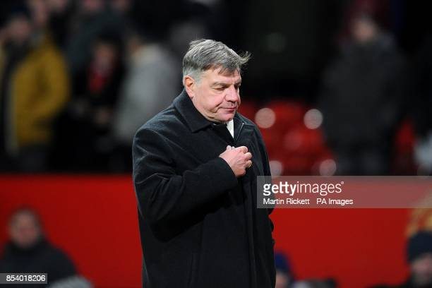 West Ham United manager Sam Allardyce leaves the pitch after the final whistle