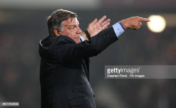 West Ham United Manager Sam Allardyce on the touchline during the Capital One Cup Third round match at Upton Park London