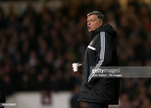 West Ham United manager Sam Allardyce on the touchline