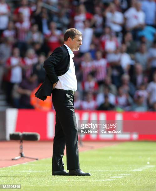 West Ham United manager Slaven Bilic during the Premier League match between Southampton and West Ham United at St Mary's Stadium on August 19 2017...