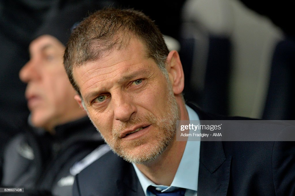 West Ham United Manager Slaven Bilic looks on prior to the Barclays Premier League match between West Bromwich Albion and West Ham United at The Hawthorns on April 30, 2016 in West Bromwich, United Kingdom.