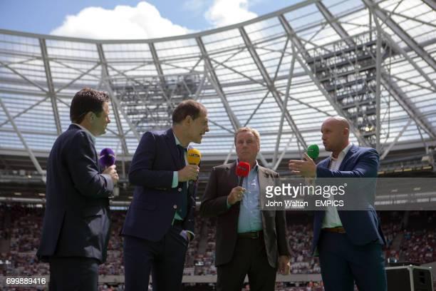 West Ham United manager Slaven Bilic speaks with BT Sport Pundits Chris Hollins Harry Rednapp and Dean Ashton