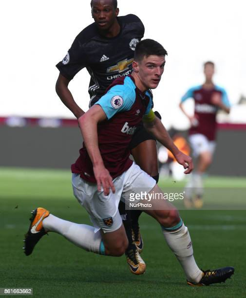 West Ham United U23s Declan Rice during Premier League 2 Division 1 match between West Ham United Under 23s and Manchester United Under 23s at London...