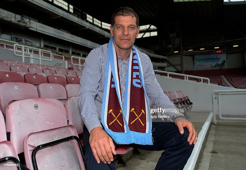 West Ham United Unveil New Manager Slaven Bilic at the Boleyn Ground on June 12, 2015 in London, United Kingdom.