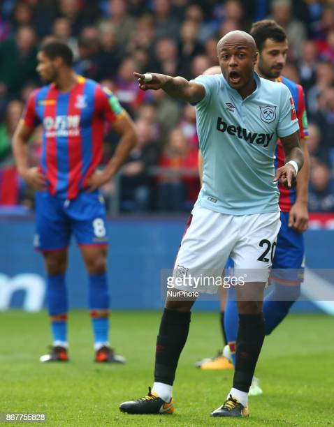West Ham United's Andre Ayew during Premier League match between Crystal Palace and West Ham United at Selhurst Park Stadium London England on 29 Oct...