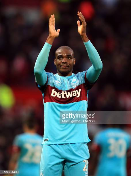 West Ham United's Angelo Ogbonna applauds the fans after the game