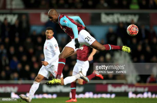 West Ham United's Angelo Ogbonna in action during the Emirates FA Cup fourth round replay match at Upton Park London