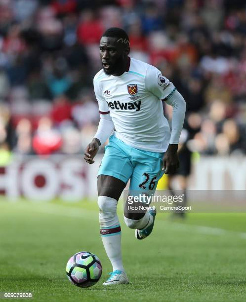 West Ham United's Arthur Masuaku during the Premier League match between Sunderland and West Ham United at Stadium of Light on April 15 2017 in...