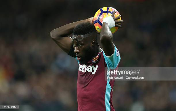West Ham United's Arthur Masuaku during the Premier League match between West Ham United and Arsenal at London Stadium on December 3 2016 in...
