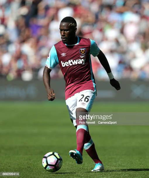 West Ham United's Arthur Masuaku during the Premier League match between West Ham United and Swansea City at London Stadium on April 8 2017 in...