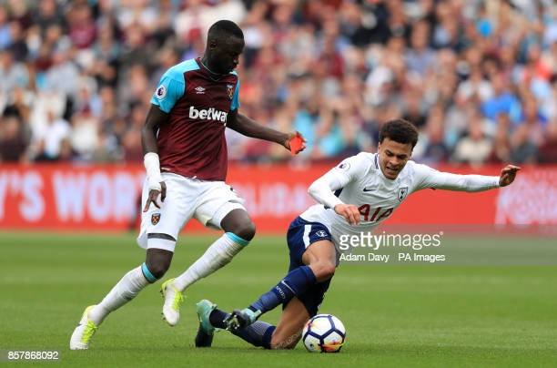 West Ham United's Cheikhou Kouyate and Tottenham Hotspur's Dele Alli battle for the ball