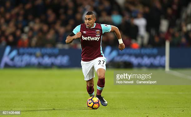 West Ham United's Dimitri Payet during the Premier League match between West Ham United and Arsenal at London Stadium on December 3 2016 in Stratford...