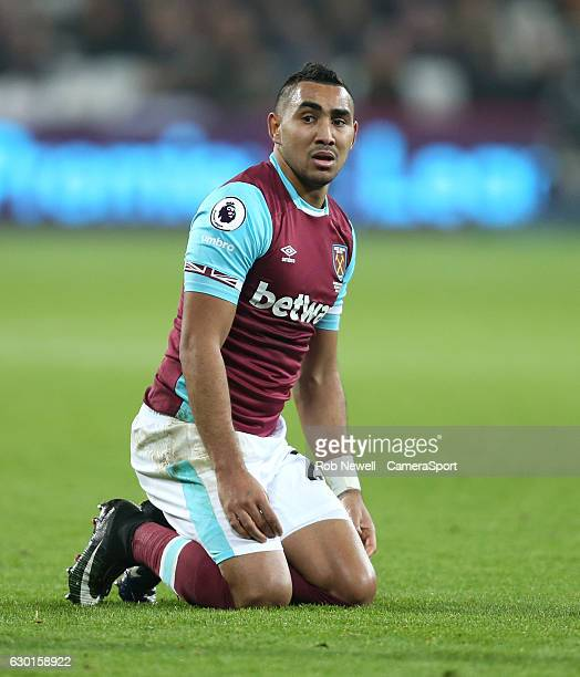 West Ham United's Dimitri Payet during the Premier League match between West Ham United and Hull City at London Stadium on December 17 2016 in...
