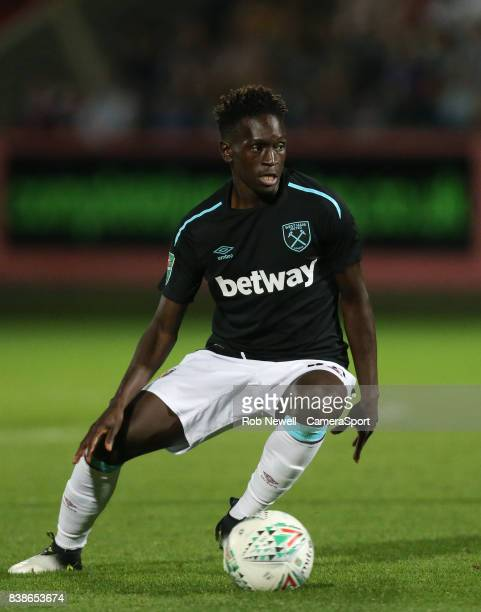 West Ham United's Domingos Quina during the Carabao Cup Second Round match between Cheltenham Town and West Ham United at Whaddon Road on August 23...