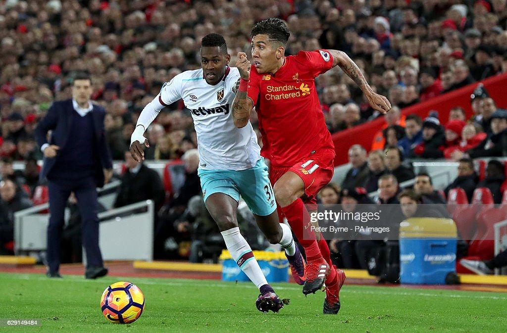 Liverpool v West Ham United - Premier League - Anfield : News Photo