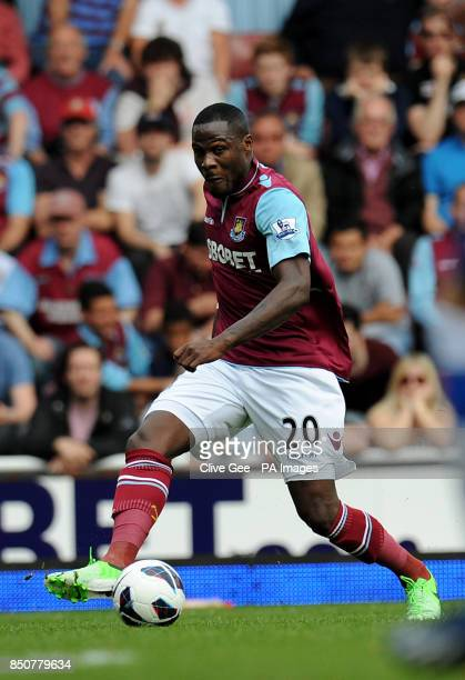 West Ham United's Guy Demel during the Barclays Premier League match at Upton Park London