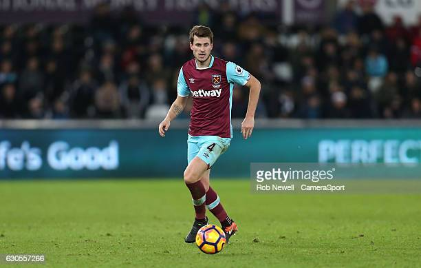 West Ham United's Havard Nordtveit during the Premier League match between Swansea City and West Ham United at Liberty Stadium on December 26 2016 in...