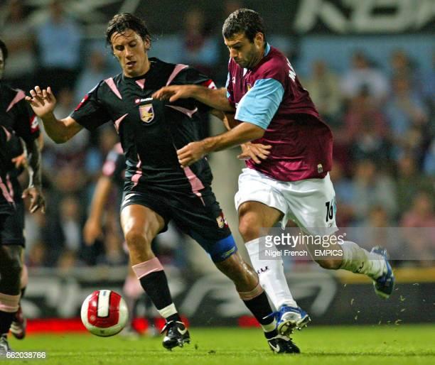 West Ham United's Javier Mascherano and Palermo's Cristian Zaccardo