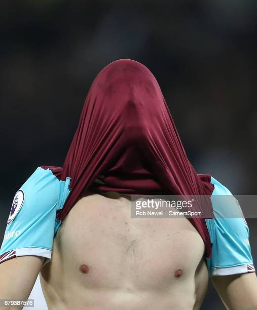 West Ham United's Jonathan Calleri after a near miss during the Premier League match between West Ham United and Tottenham Hotspur at London Stadium...