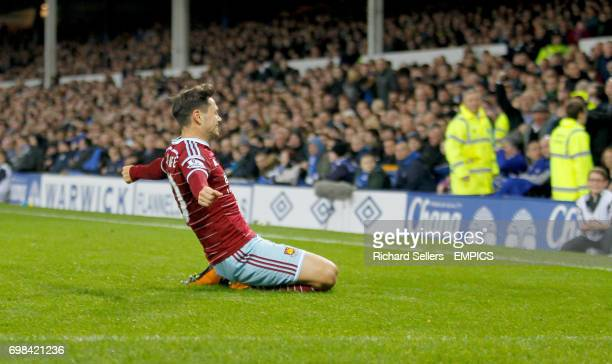 West Ham United's Mauro Zarate celebrtaes his equaliser