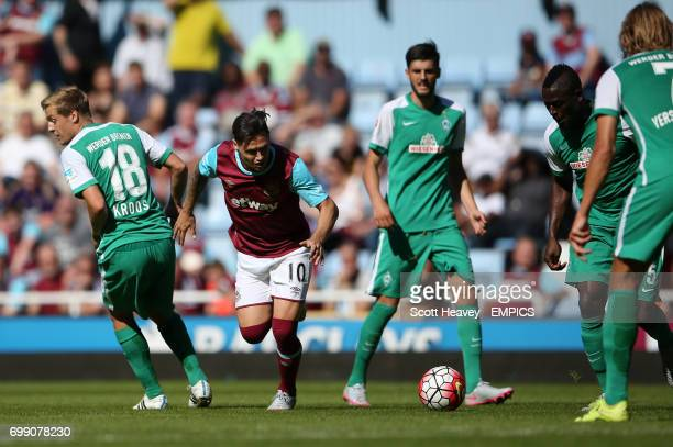 West Ham United's Mauro Zarate in action