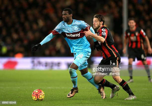 West Ham United's Pedro Mba Obiang leaves behind Bournemouth's Harry Arter
