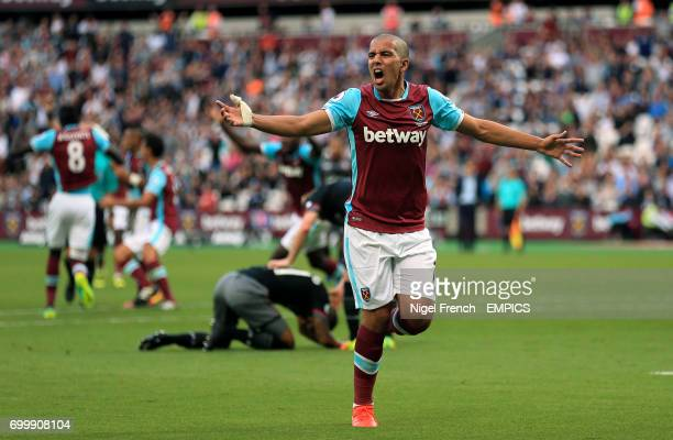 West Ham United's Sofiane Feghouli appeals