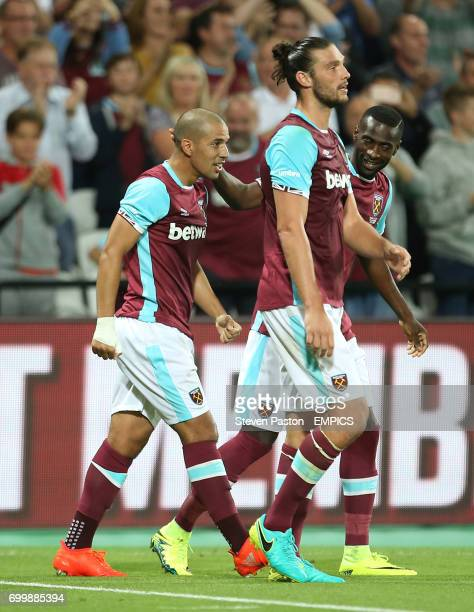 West Ham United's Sofiane Feghouli celebrates scoring his side's third goal
