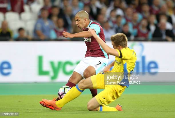 West Ham United's Sofiane Feghouli in action against NK Domzale