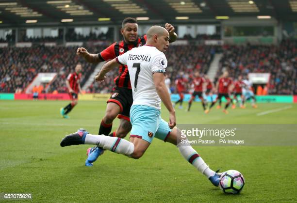 West Ham United's Sofiane Feghouli in action during the Premier League match at the Vitality Stadium Bournemouth