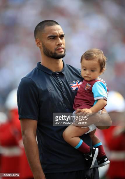 West Ham United's Winston Reid and child
