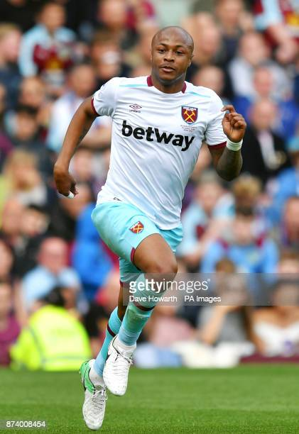 West Ham's Andre Ayew during the Premier League match at Turf Moor Burnley