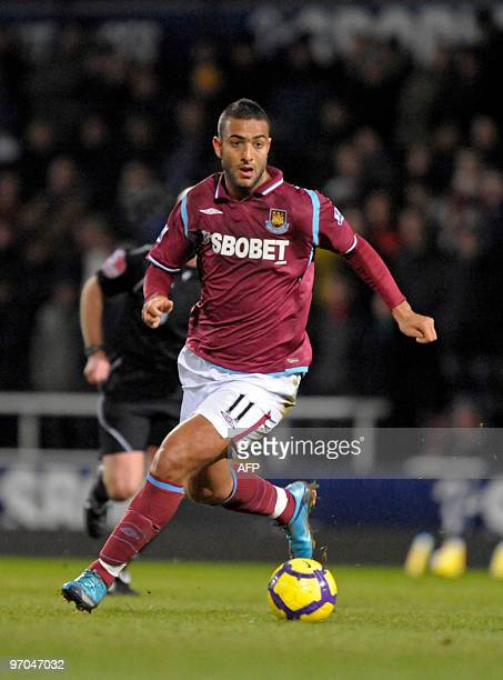 West Ham's Egyptian striker Mido in action during the English Premier League football match between West Ham United and Birmingham City at the Boleyn...