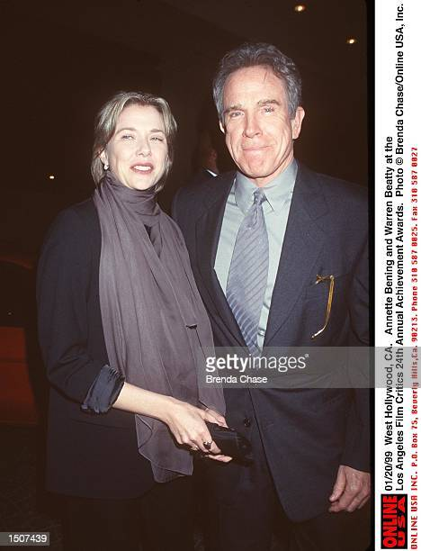 West Hollywood CA Annette Bening and Warren Beatty at the Los Angeles Film Critics 24th Annual Achievement Awards