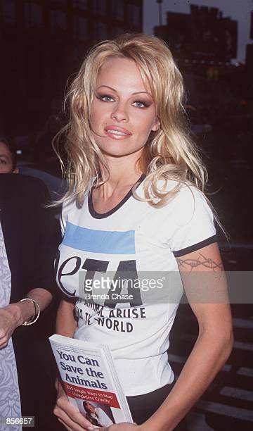 West Hollywood CA Pamela Anderson at Woody Harrelson's O2 Bar Restaurant for the release of Ingrid Newkirk's new book 'You Can Save The Animals 251...