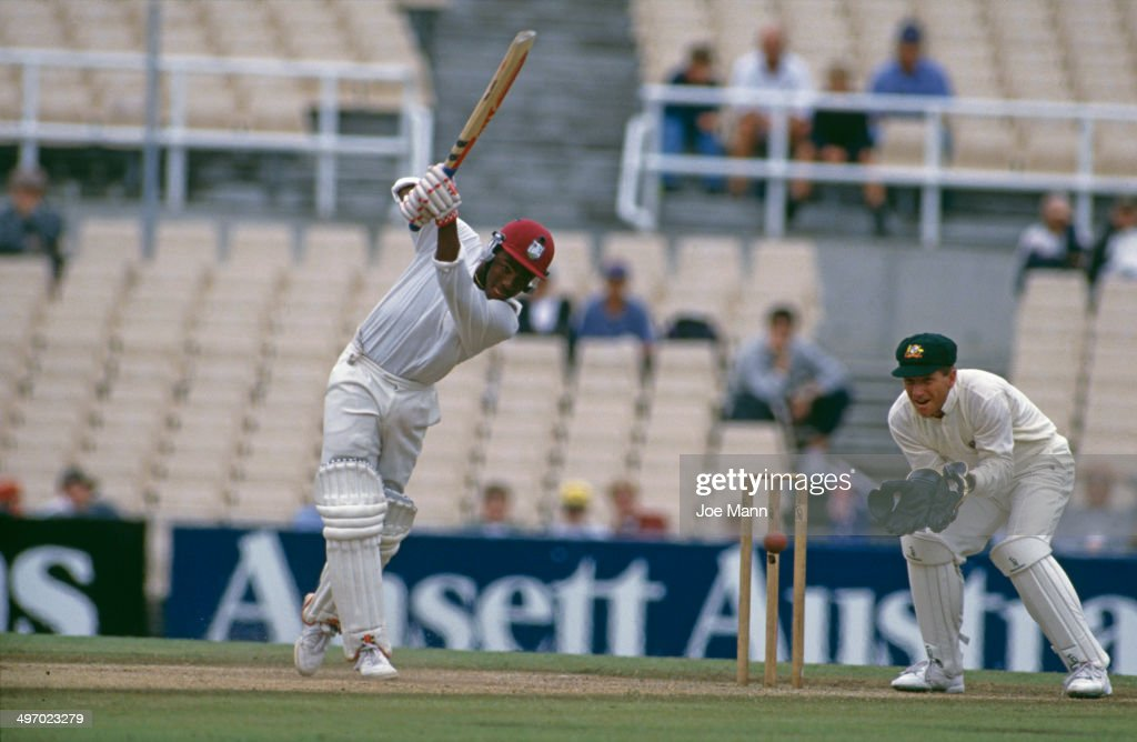 West Indian batsman Brian Lara during his innings of 277 runs in the Third Test against Australia at Sydney Cricket Ground, Sydney, Australia, 2nd - 6th January 1993. The match ended in a draw.