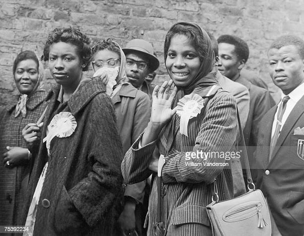 West Indian cricket fans queuing for the final Test Match against England at the Oval cricket ground in South London 22nd August 1963