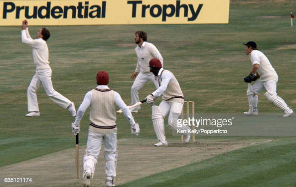 West Indies batsman Desmond Haynes is caught in the slips by England fielder Chris Tavare for 19 in the 1st Prudential Trophy One Day International...